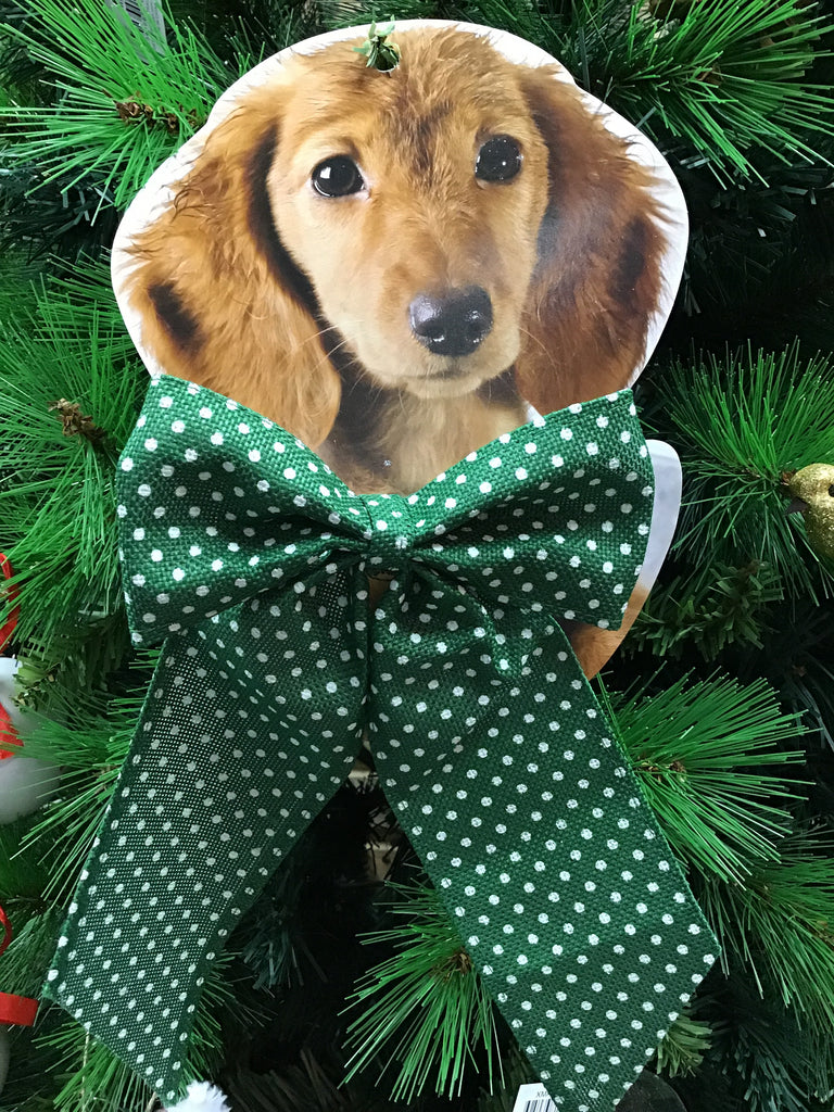 Christmas Pet Bow Tie Green
