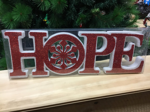 Christmas Tabletop Word Decoration Assorted