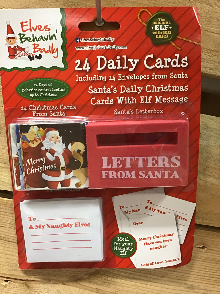 Christmas Elves Santa Cards 24pk with Envelopes