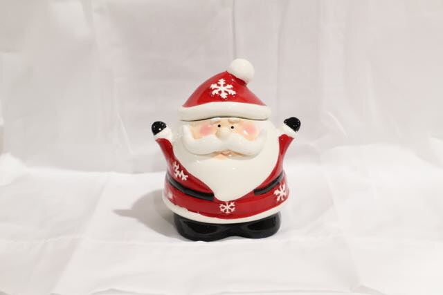 Christmas Novelty Ceramic Santa Sugar Jar