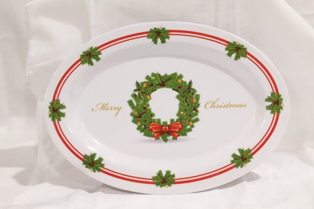 Christmas Melamine Oval Plate Large