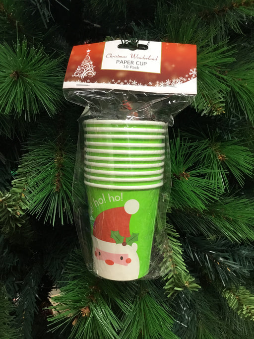 Christmas Paper Cup 10pk Assorted