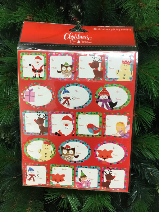 Christmas Gift Tag Stickers 36PK