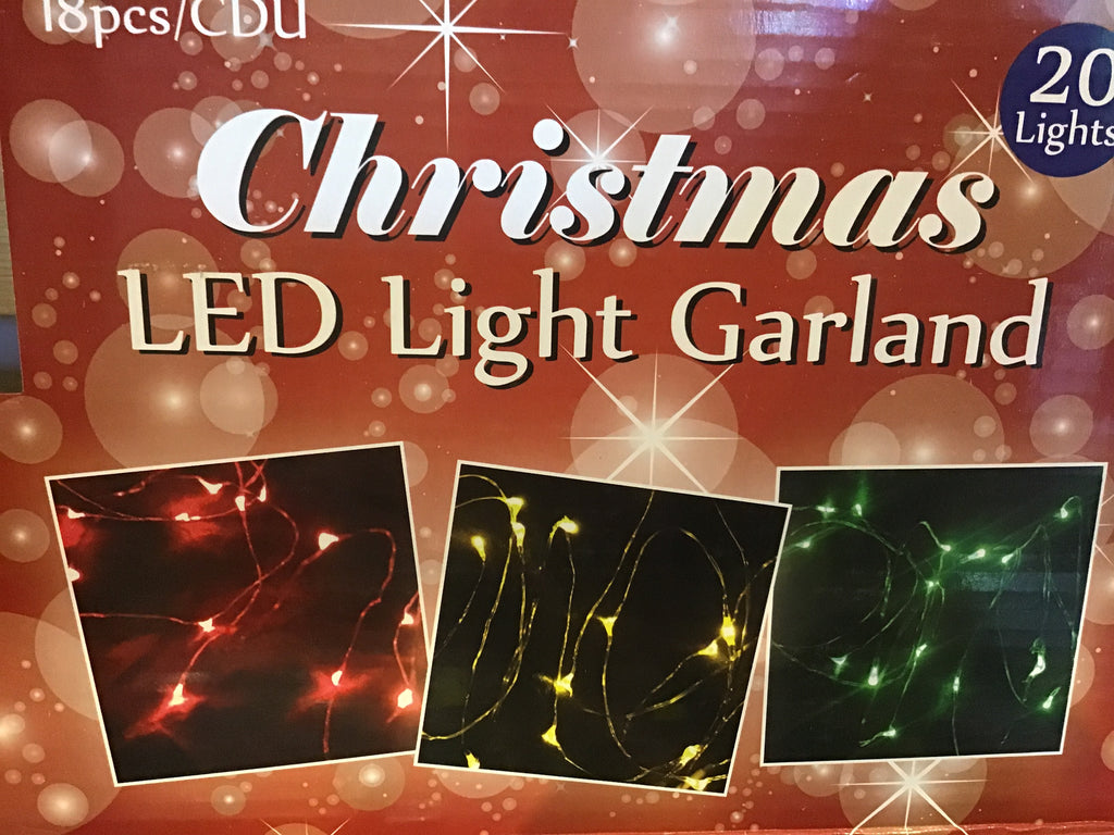 LED WIRE STRING LIGHTS ASSORTED