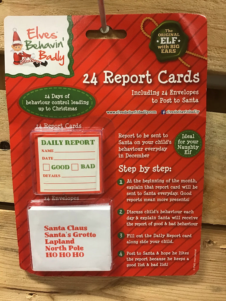 Christmas Elves Daily Report Cards 24pk