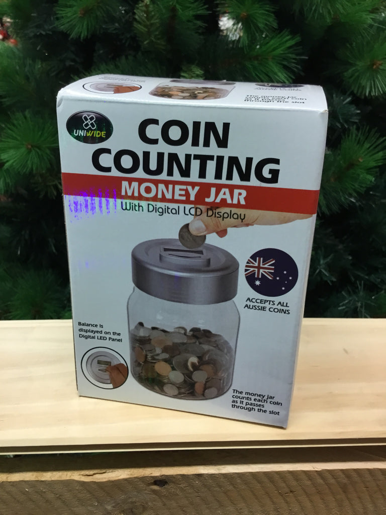 Coin Counting Money Jar with Digital LCD Display