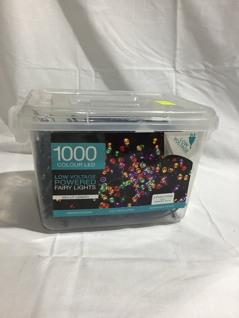 Christmas 1000 LED Powered Fairy Lights Multicolour