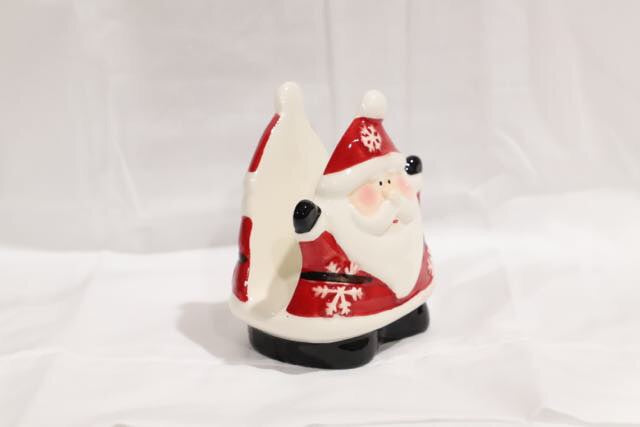 Christmas Novelty Ceramic Santa Napkin Holder