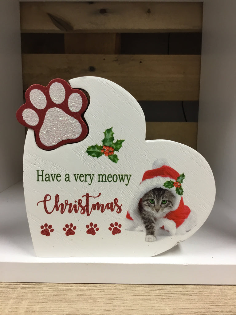 Christmas Wooden Pet Block Ornament Cat/Dog