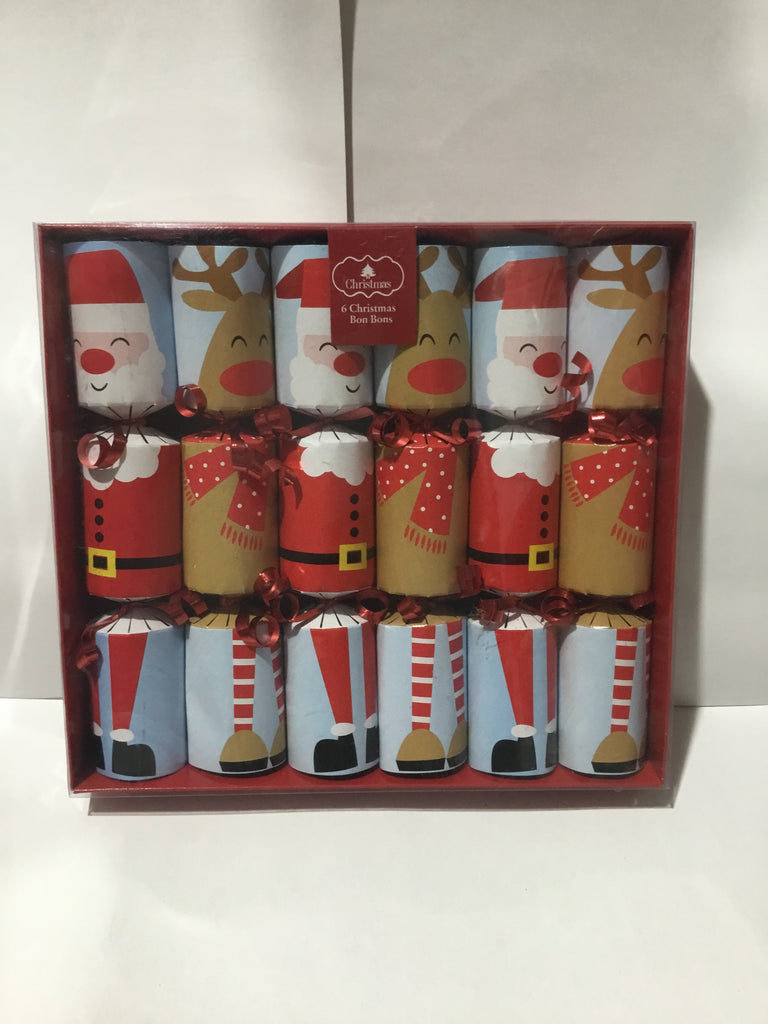 Christmas Bon Bon Cracker 6pk 22x4cm