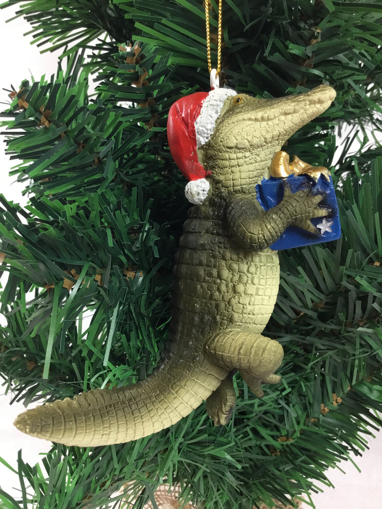 Christmas Crocodile Hanging Ornament