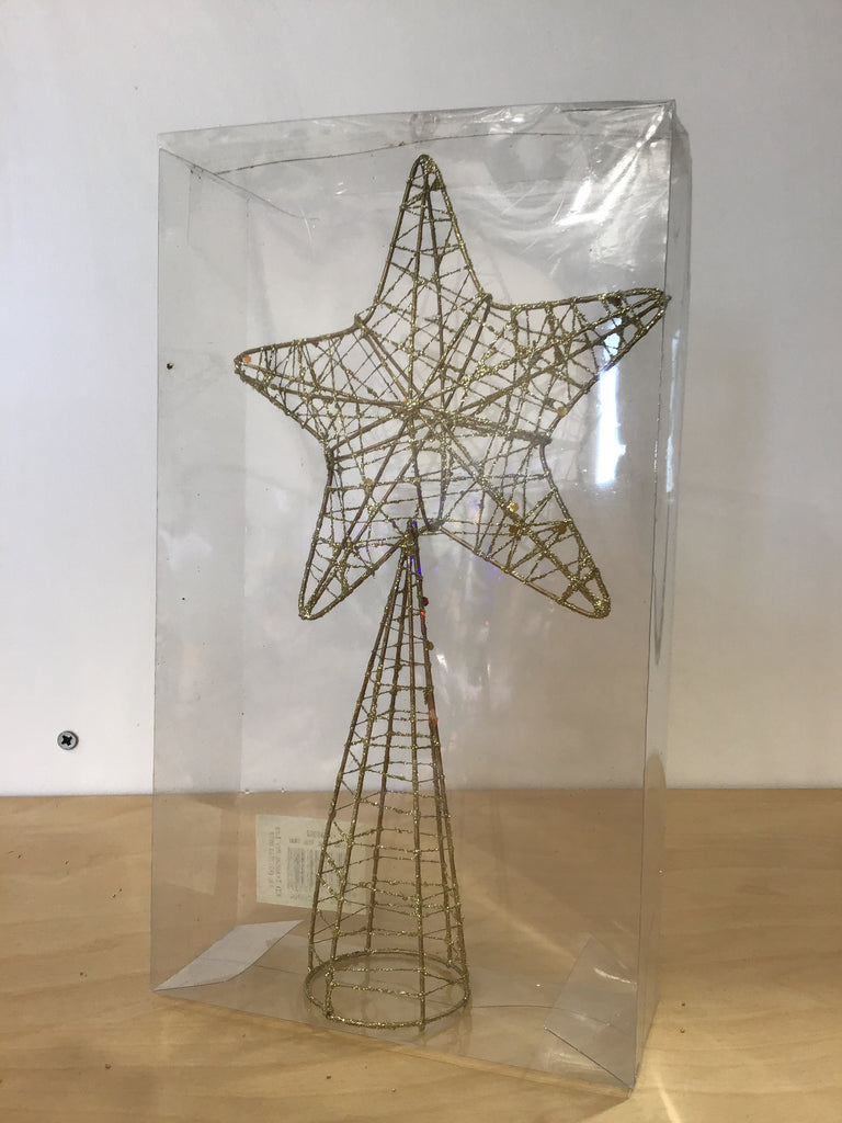Christmas Gold Wire Tree Topper