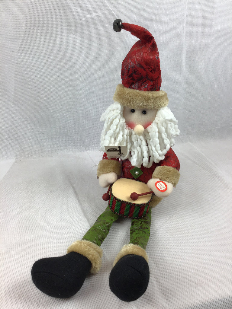 Christmas Santa Drummer Animated Plush