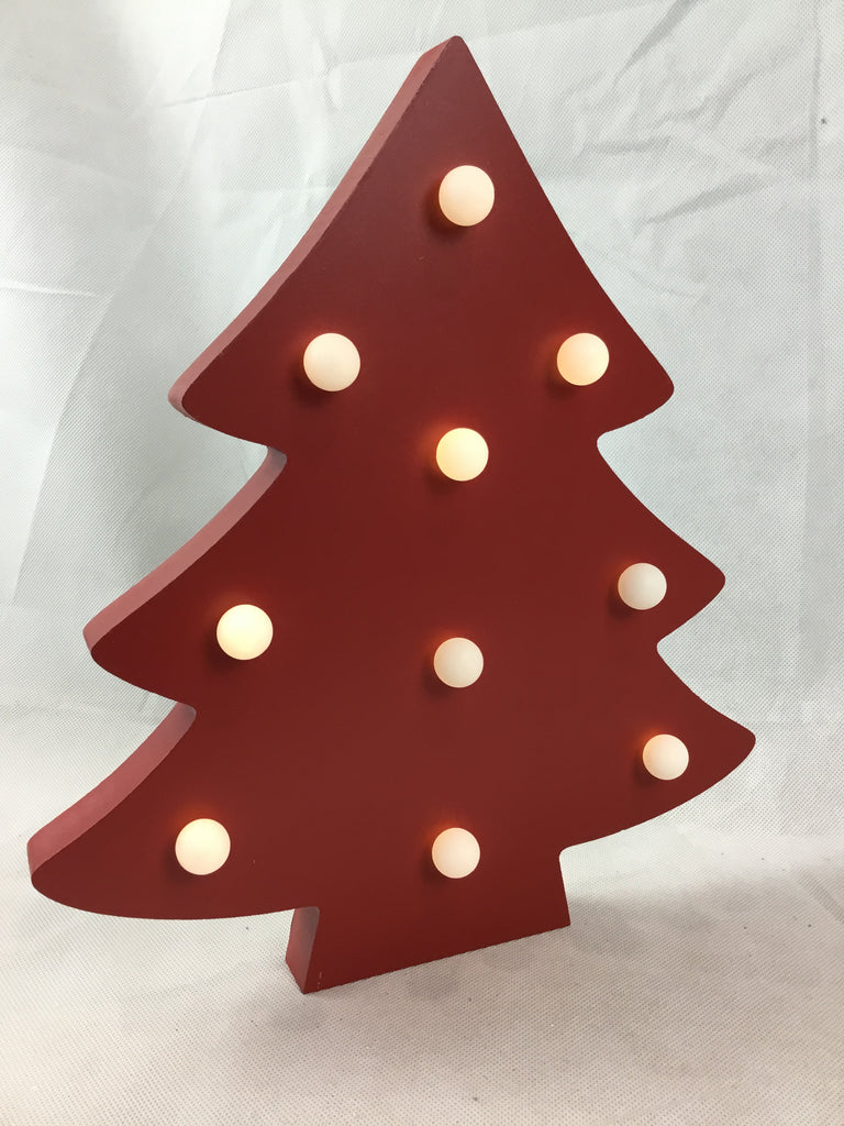 Christmas MDF Light Up Tree 35cm