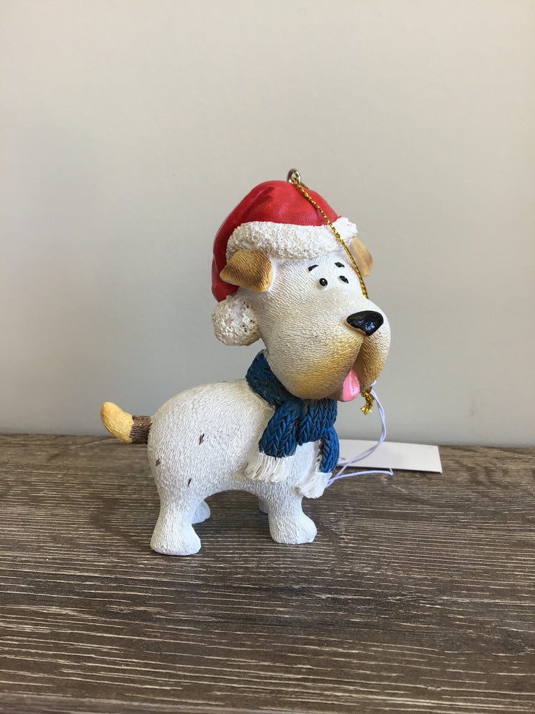 Christmas Hang Dog Ornament 10cm