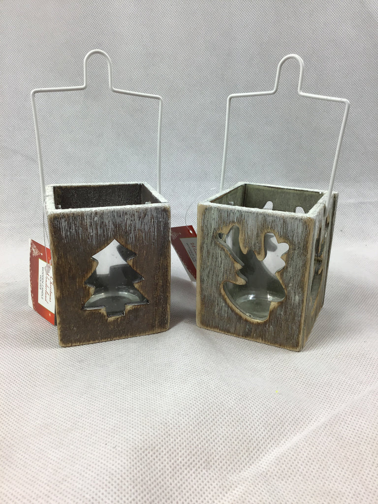 Christmas Rustic Wooden Candle Holder