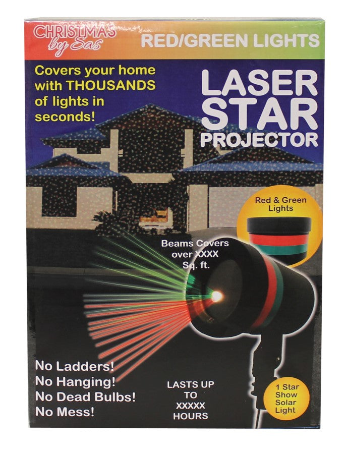 Christmas Laser Star Projector Red/Green
