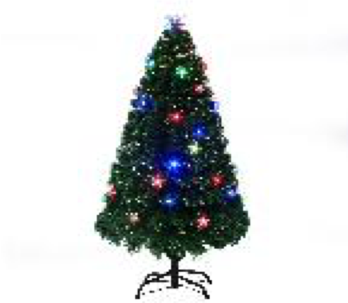 Christmas Fibre Optic Tree LED Stars 120cm