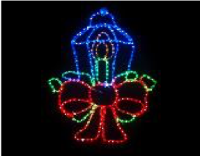 Christmas LED Ropelight Candle 50x50cm
