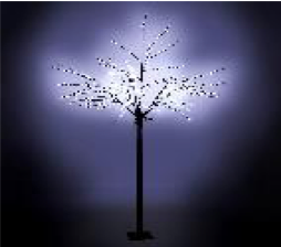 Christmas White Cherry Tree 600 LED 2.5m H