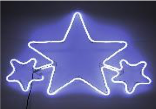 Christmas LED Neon Star Silhouette 62cm