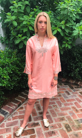 Coral Silk Sushila Tunic/Dress - sueanu