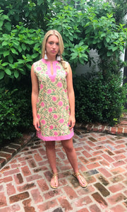 Pink & Lime Dahlia Jaya Tunic/Dress - sueanu