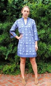 Indigo Blue Cotton Sushila Tunic/Dress - sueanu