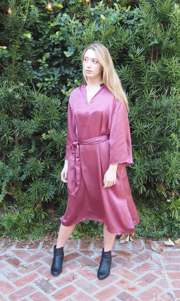 Earl Grey Satin Tunic, Midi Tunic/Dress, and Dress - sueanu