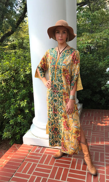 Maxed Lulu Kaftan Dress | Ochre & Indigo - sueanu