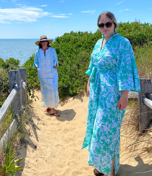 Taj Kaftan  | Spearmint / White