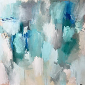 Atmospheric Scape : aqua | teal I