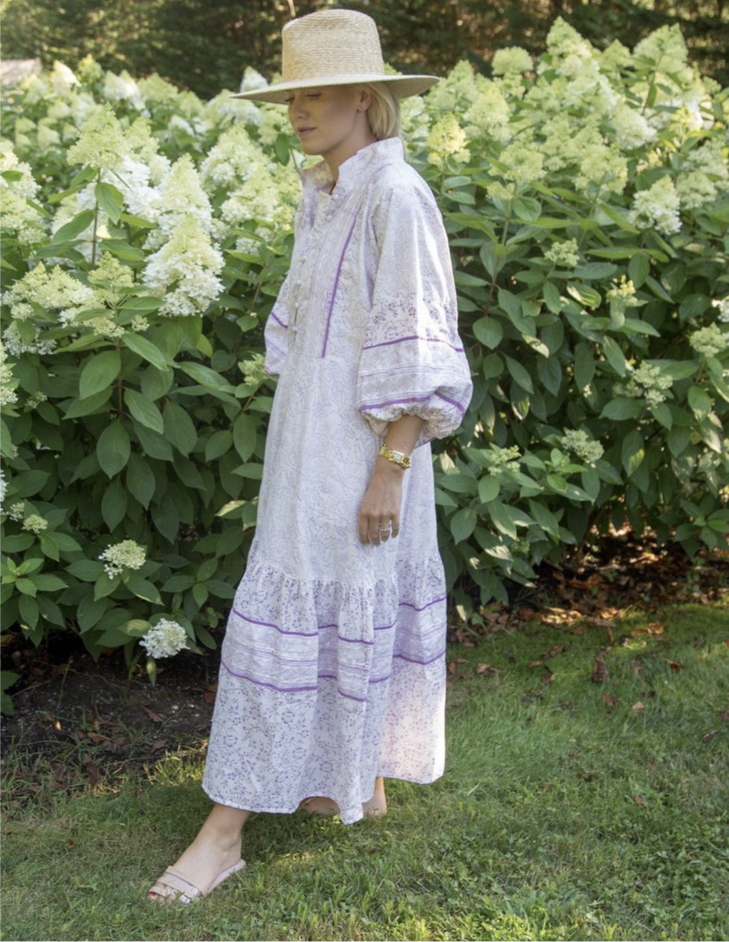 india amory X SUE SARTOR Little Block Dress LILAC | WHITE available only on indiaamory.com