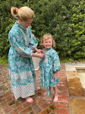 Girls Paloma Dresses 2T-8 | Special Order any woodblock Paloma Style color way