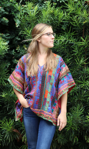 Semi-Antique Blanket Kaftan Top - sueanu