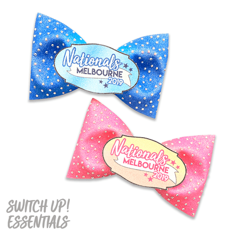 2019 Nationals Glitter Tailless Bow