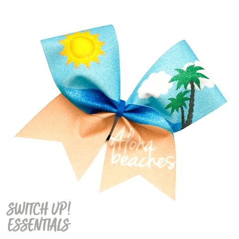 Aloha Beaches Cheer Bow