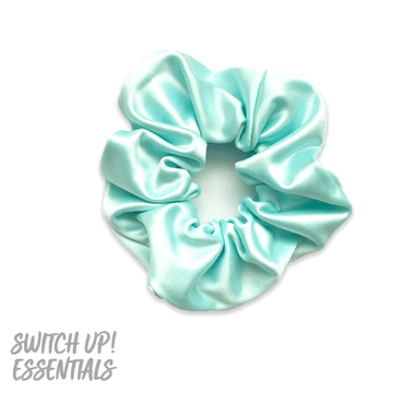 Aqua Mint Satin Colour Scrunchie