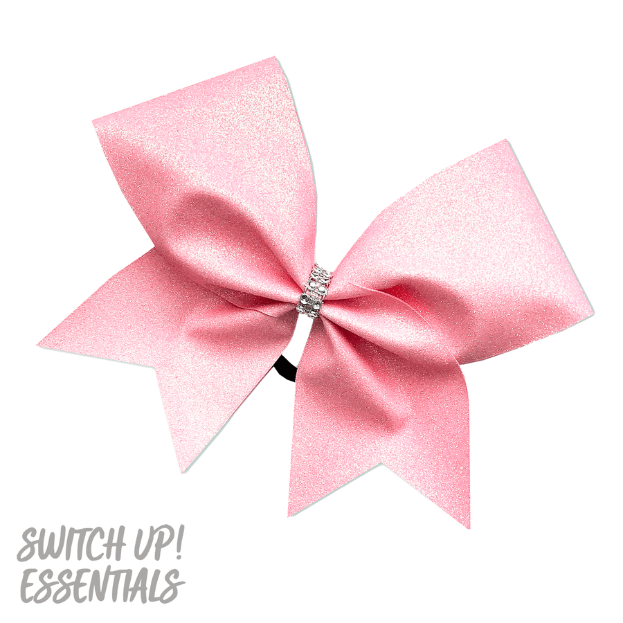 Baby Pink Glitter Cheer Bow