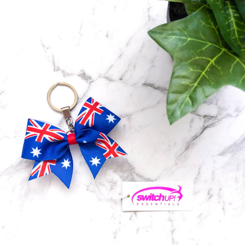Australia Flag Cheer Bow Keyring