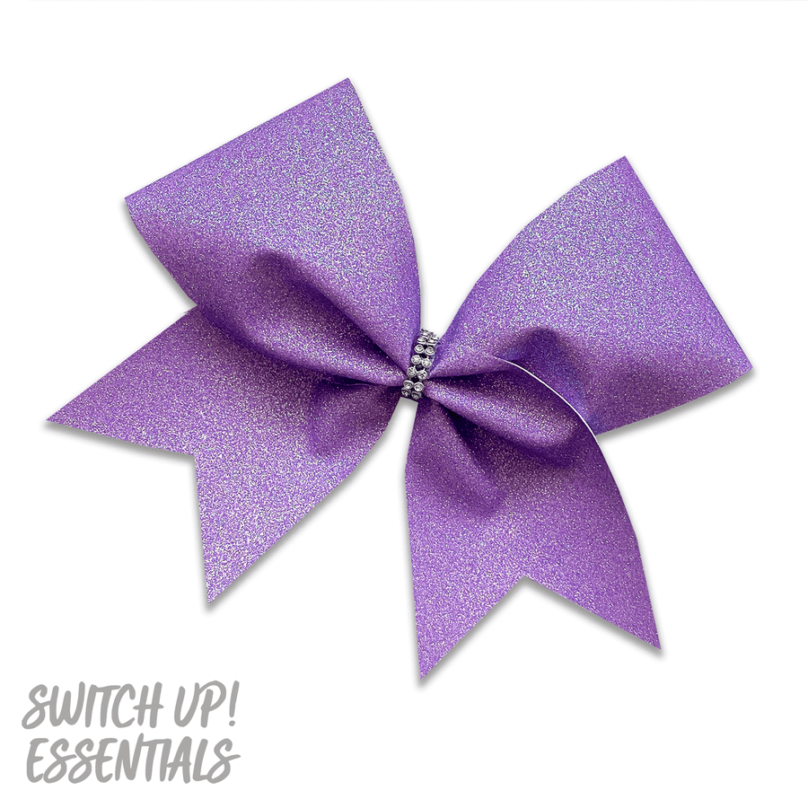 Lavender Glitter Cheer Bow