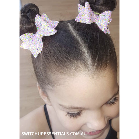Pink Sprinkles Mini Bow Set - Switch Up! Essentials - Cheer Bows