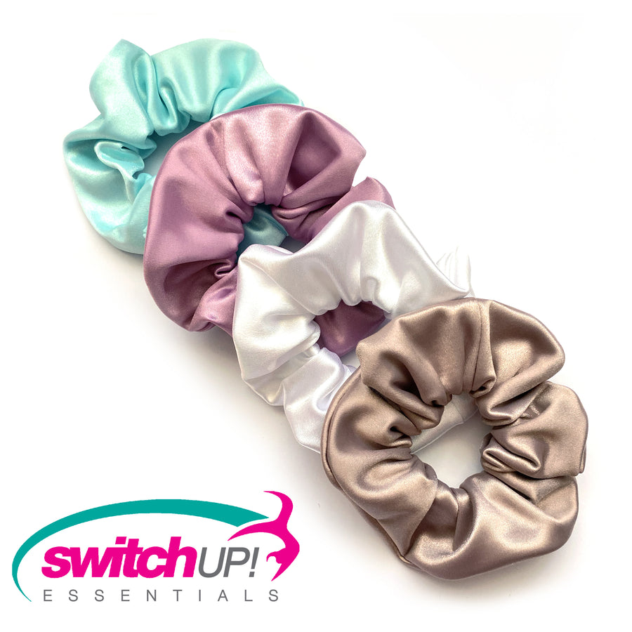 Mocha Satin Colour Scrunchie