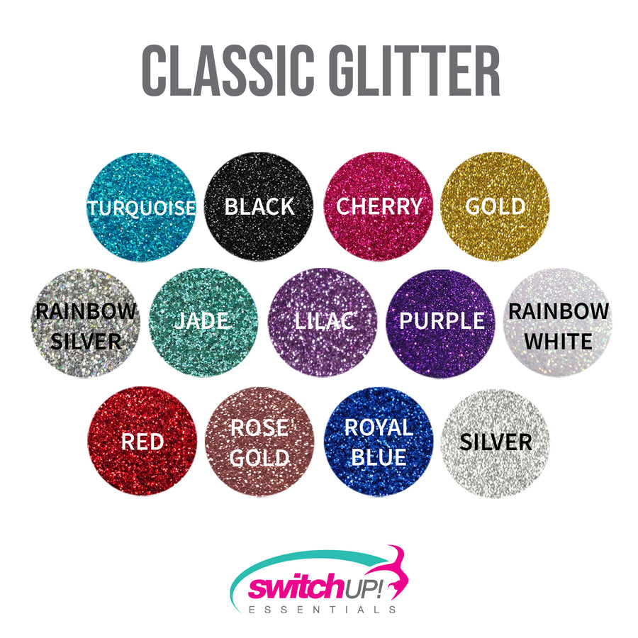 Rhinestone Glitter Tailless Bow (Waterfall Pattern) - Switch Up! Essentials - Cheer Bows
