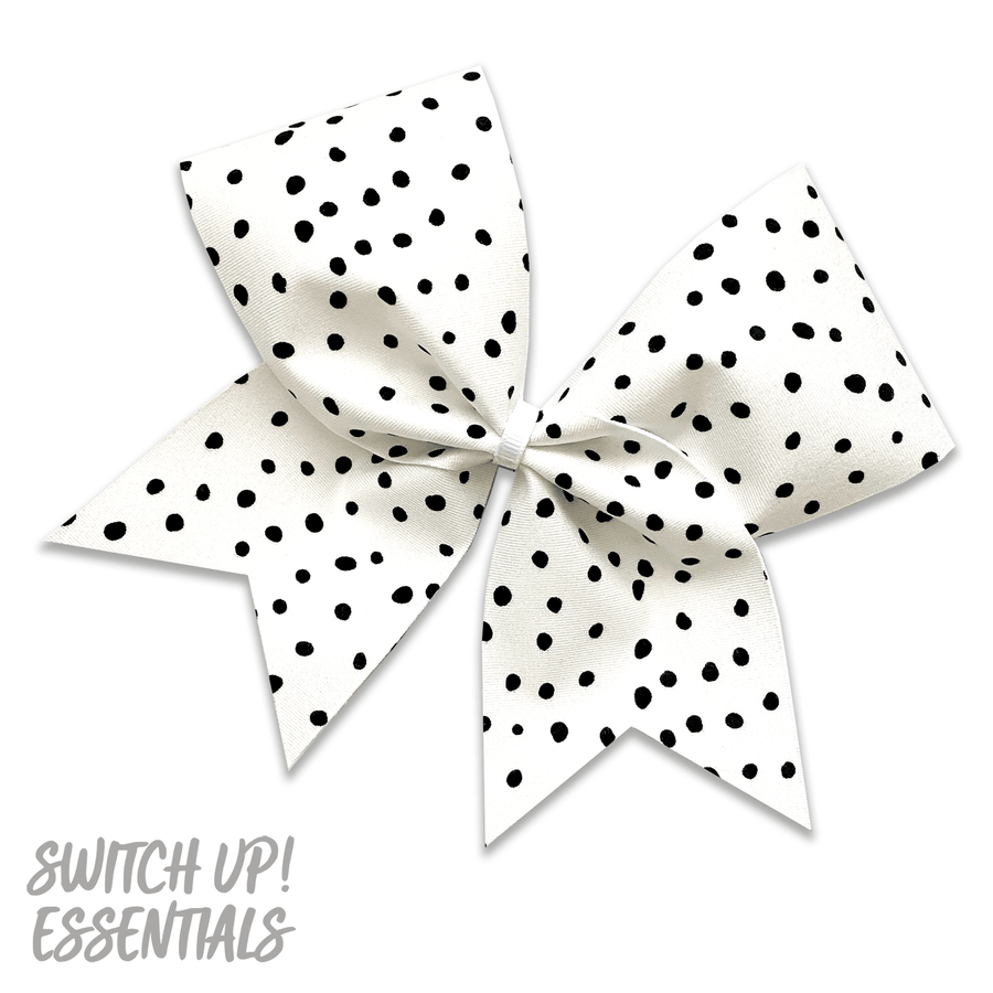 White Speckle Cheer Bow