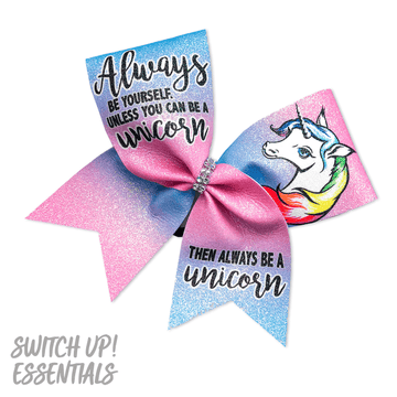 Always Be a Unicorn Cheer Bow