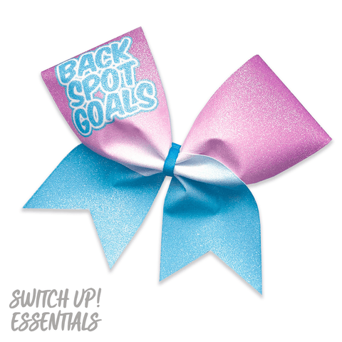 Back Spot Goals Glitter Cheer Bow