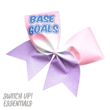 Base Goals Glitter Cheer Bow