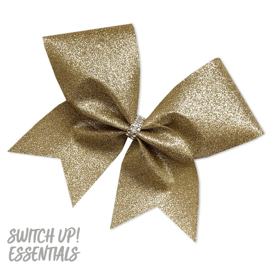 Champagne Glitter Cheer Bow