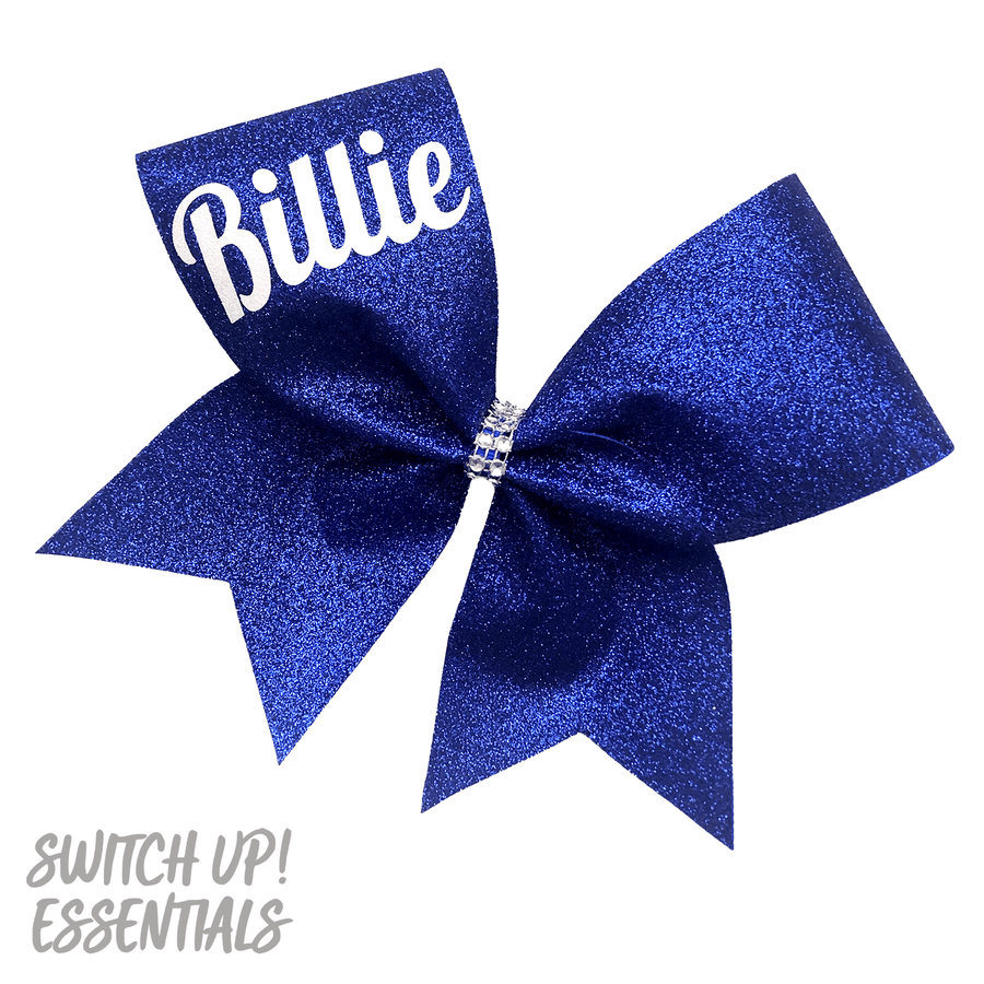 Custom Name - Personalised Glitter Cheer Bow